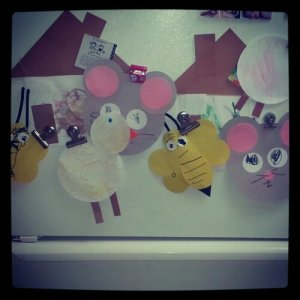 Here is my fridge with pictures of all the animals they learned about!